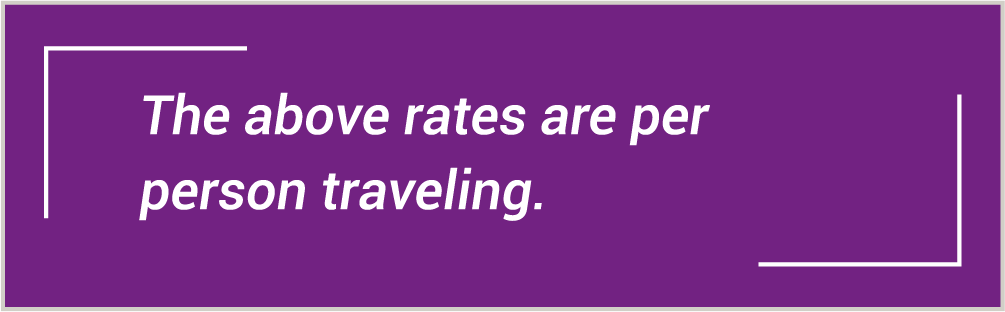 Per person traveling